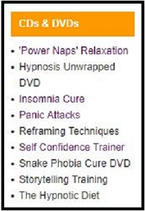 Uncommon Knowledge hypnosis CDs and DVDs.