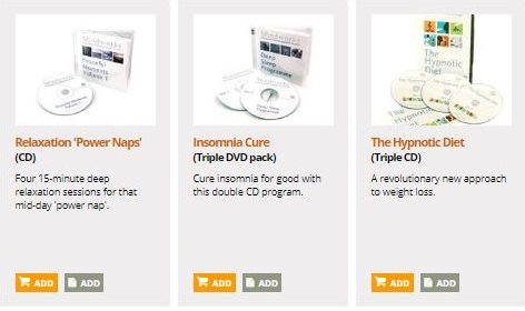 hypnosis cds and dvds